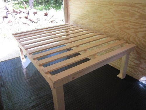 Bed Frame Build For Cargo Trailer Conversion Camping