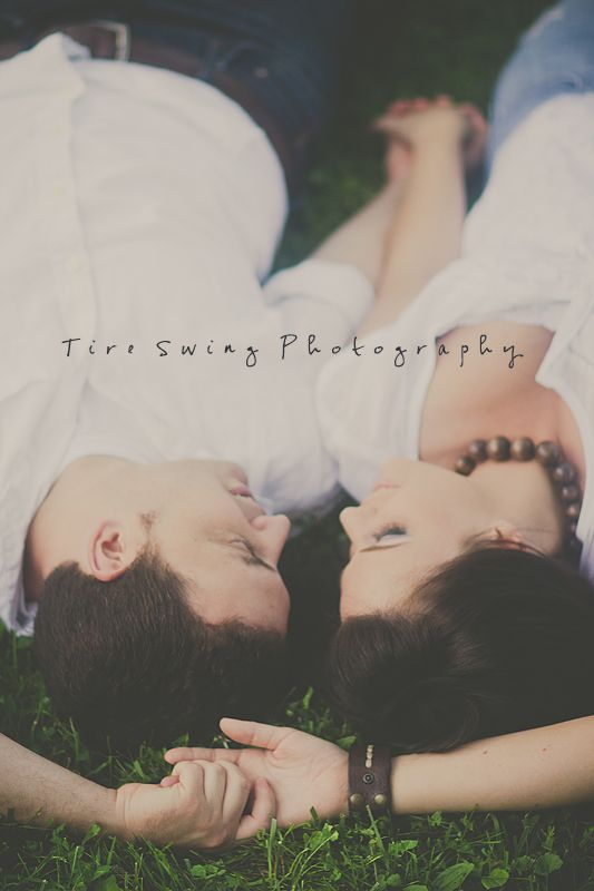 engagement photography  Tire Swing Photography  Would be cute for photos with text as long as the shirt colors were right