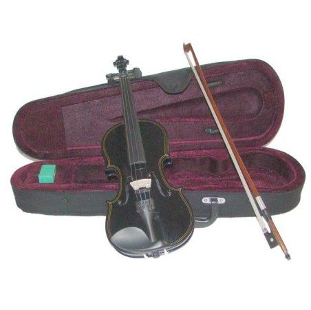 Merano MV300BK 18 Size Black Violin with Case and BowExtra Set of Strings Extra BridgePitch Pipe Rosin Shoulder Rest *** You can get more details by clicking on the image.(It is Amazon affiliate link) #30likes