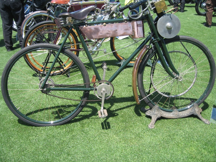 Early gas driven bicycle