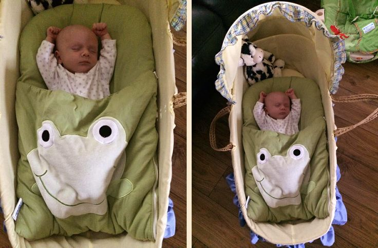 """Isaac Bailey Loves His Green Froggy Nap Mat!!! Nonna was delighted when she received photos of gorgeous little Isaac snoozing in his nap mat. Mum Juliet said """"My 5wk old son Isaac Bailey loves his green froggy nap mat - sleeps soundly all night on it in his Moses basket! Thank you so much!! Juliet xx."""" Isn't Isaac a wee cutie?! :-)"""