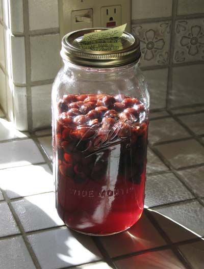Tart Cherry Liqueur Recipe - If it turns out as good as it sounds, this is what everyone's getting for Christmas this year.  :)