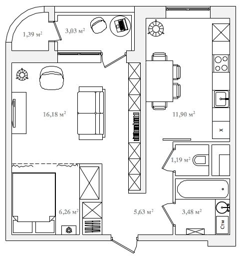 844 best small apartment images on pinterest small - Petit appartement studio allen killcoyne ...