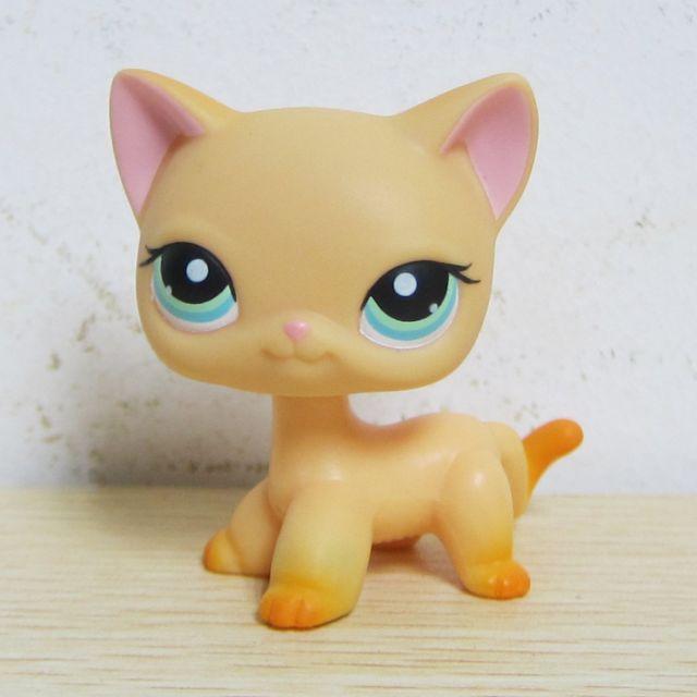 Littlest Pet Shop Collection LPS Toy #339 Yellow Short Hair Kitten Cat Rare