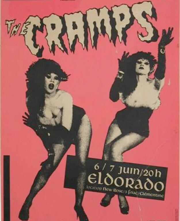 punk flyer / The Cramps live at Eldorado, France