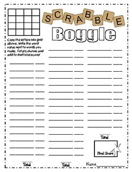 free download scrabble boggle worksheet they have printable scrabble tiles 1st grade