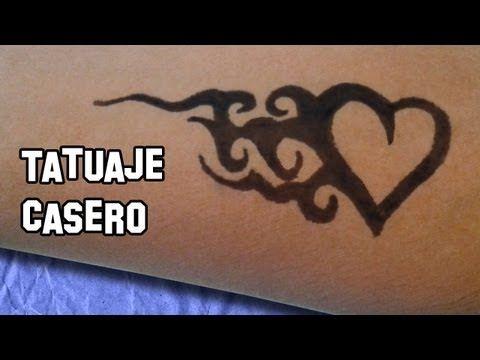 ▶ Como Hacer Tatuajes Caseros   Tattoo Temporal   Experimento Casero - YouTube