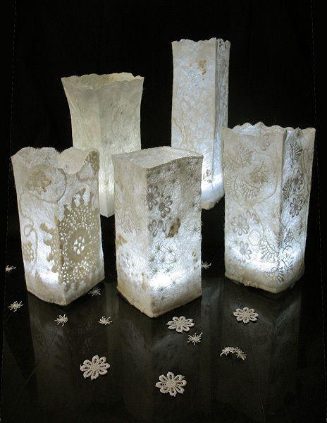 """Шерстяные светильники """"Морозные узоры"""" ( делаем абажур в технике нунофелтинг) - Ярмарка Мастеров - ручная работа, handmade"""