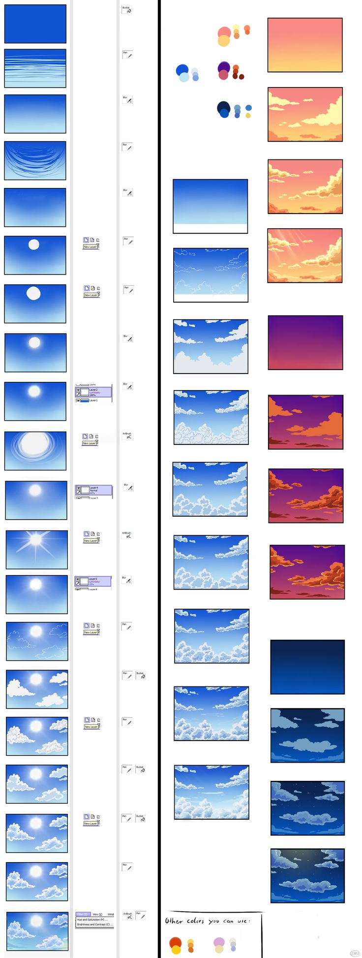 Pokemon Background Tutorial - Sky by *Mondkeks4Mina on deviantART