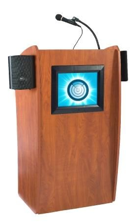 Oklahoma Sound Vision Floor Lectern w/ Sound & Display