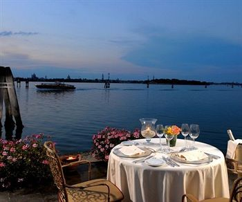 San Clemente Palace Hotel Venice Italy a table for two with Lagoon views.