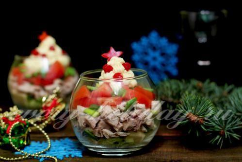 Новогодний сырный салат
