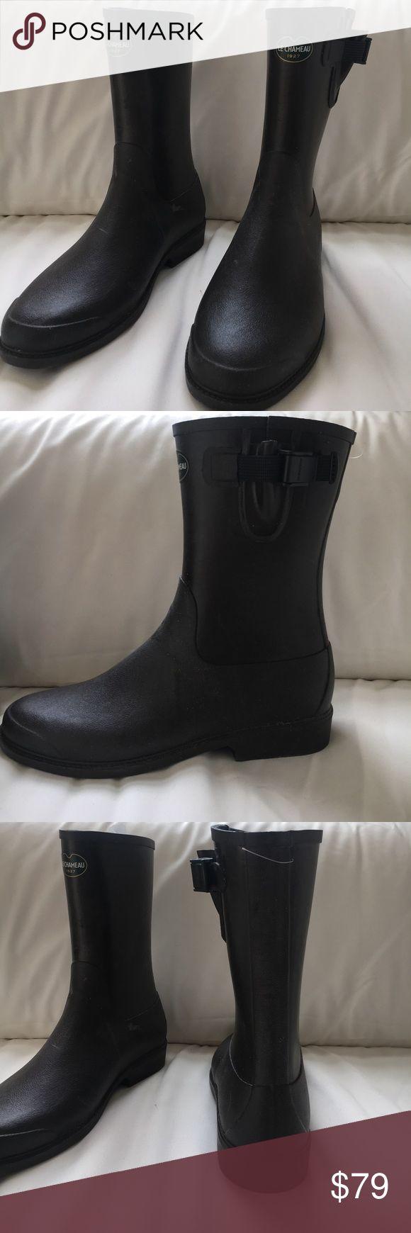 Le Chameau rain boots! Marron chocolat ( dark brown) low boot cavalier.. Shoes Winter & Rain Boots