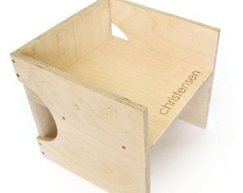 + Cherry Modern Step Stool +  Encourage child involvement and independence with this modern step stool from Little Sapling Toys. Made with