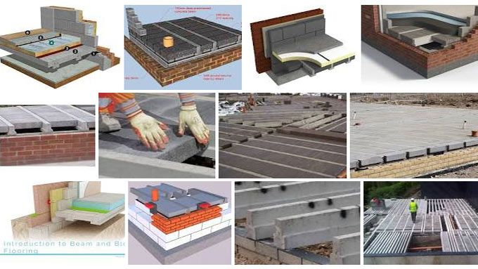 Beam and Block Floors: Beam and block is made of precast