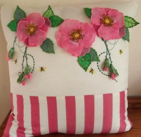 Dog Roses Cushion