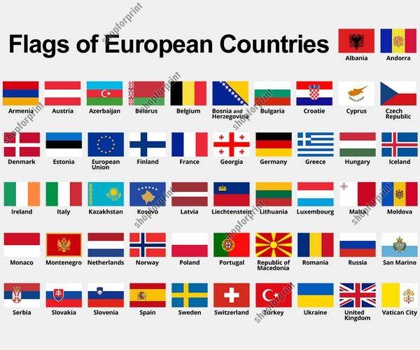 Flags Of Europe Flag Of Europe Flags Of European Countries European Flags