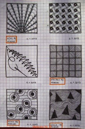 27 Patterns drawn by Miekrea NL of which 4 designed by Miekrea NL - 2 designed by Others