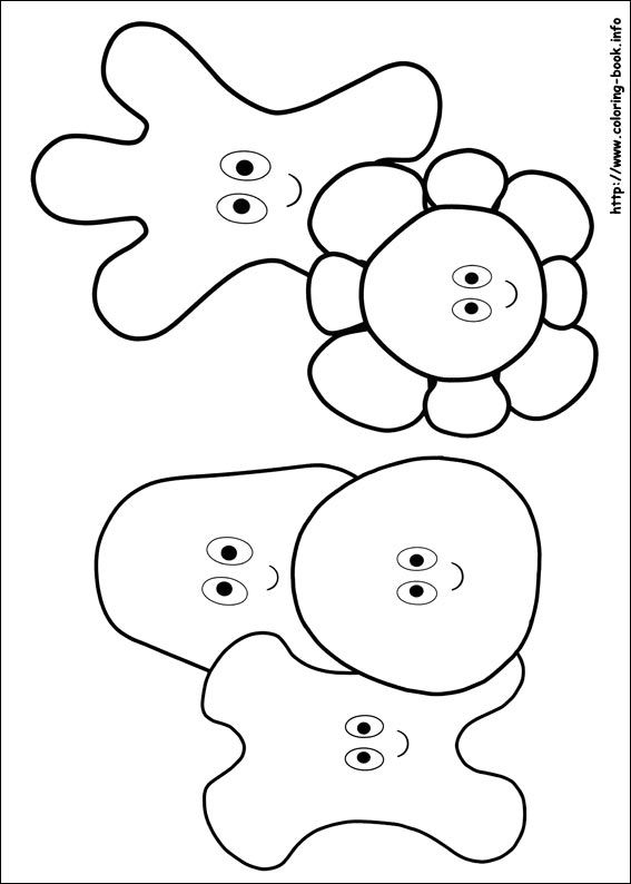 In the night garden coloring picture