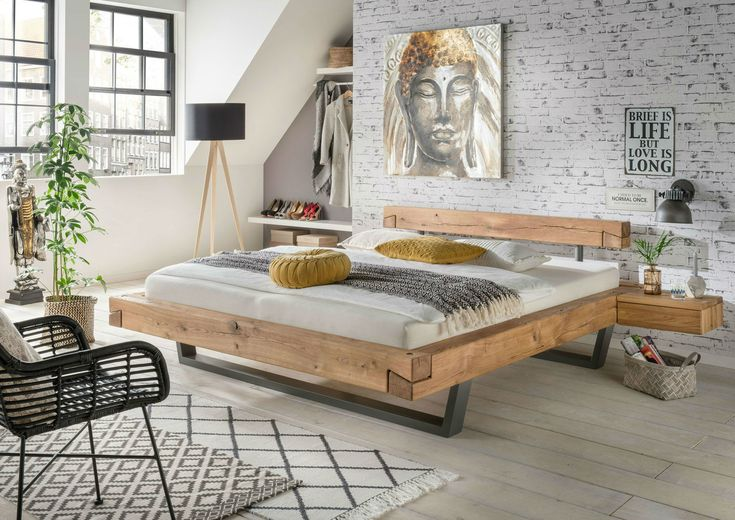 Balkenbett Doppelbett Massivholz Bold Bett massivholz