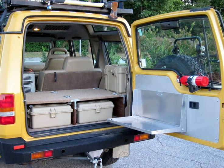 cooking using the back end of vehicle. . I love doing this. the raised platform…