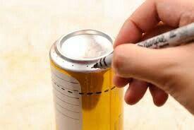 Fogão de lata de cerveja