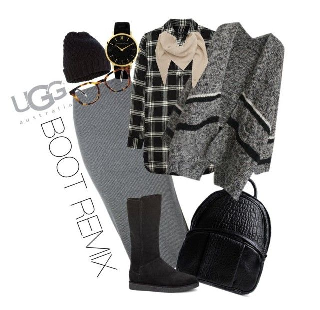 """Boot Remix with UGG : Contest Entry"" by nove-windy on Polyvore featuring Whistles, Madewell, Alexander Wang, UGG Australia, Mulberry, Accessorize and Larsson & Jennings"