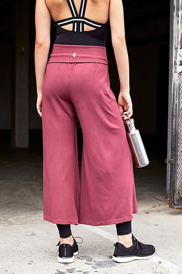 62eb3cc8f2987d Willow Wide Leg Pant by FP Movement - Wide Leg Berry Red Workout Sweatpants