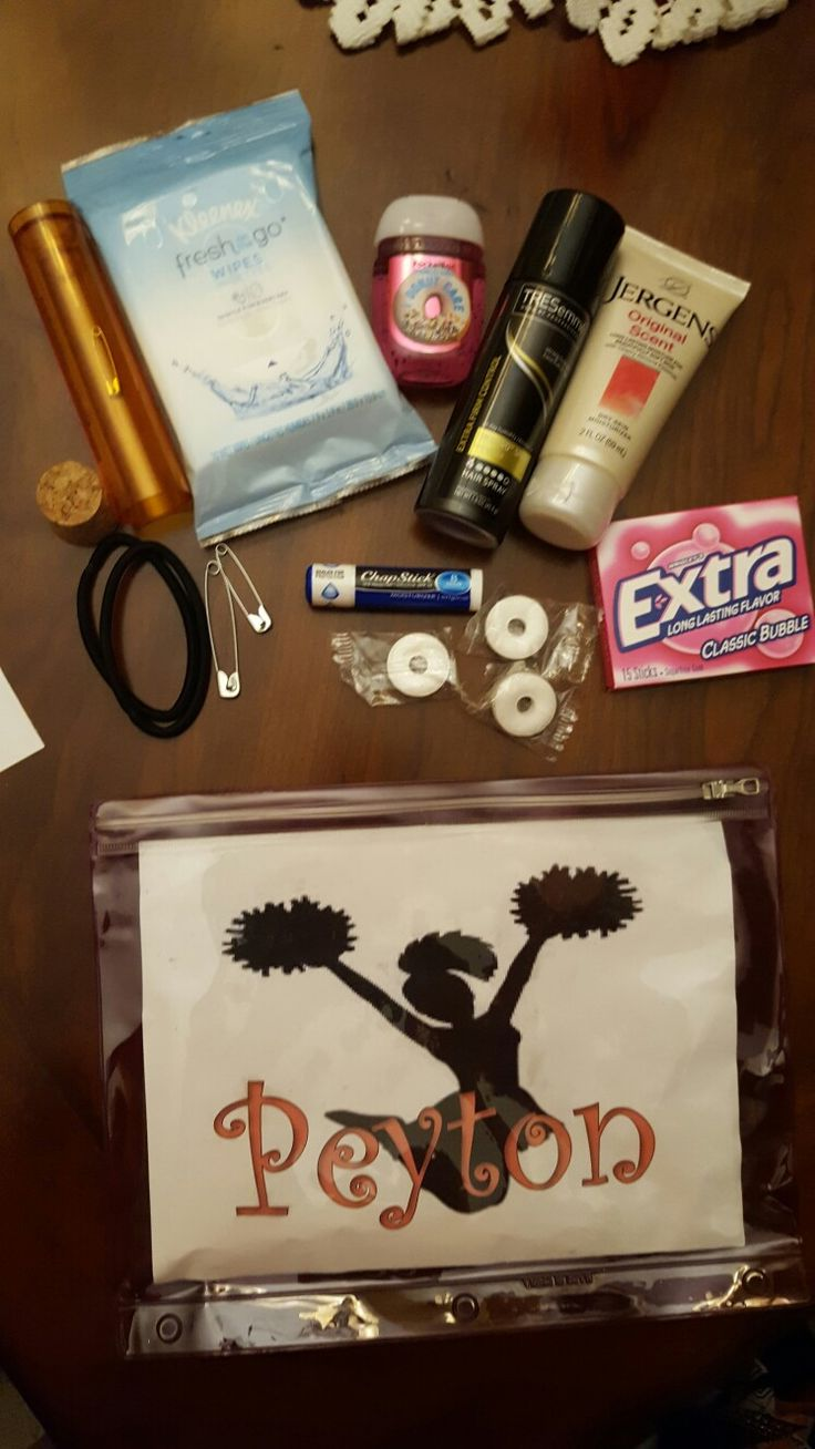 Cheer Competition Day Poem and Survival Kit