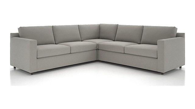 Barrett 3 Piece Sectional Left Arm Apartment Sofa Corner Right