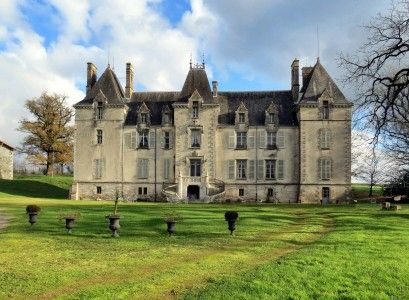 Beautiful restored Chateau with private grounds, outbuildings, stables and pool. Near Niort.  €1,180,000/£958,160