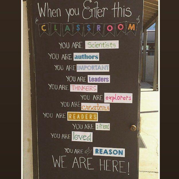 Best classroom door. Ever. #LIVEUNITED