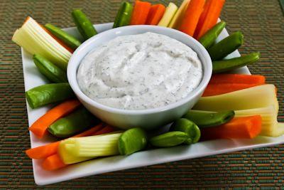 whipped cream dispenser recipe - vegetable dip