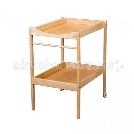 Combelle Alice  — 7600р. ---------------------------------------  Каждая новоиспеченная мама нуждается в хороших «помощниках» по уходу за ребенком. Одним из них может стать столик для пеленания Combelle Alice, изготовленный из натуральной древесины.   Модель имеет удобную поверхность для переодевания малютки и выполнения различных гигиенических процедур, снизу находится держатель для пеленок и полка для детских вещей.   Благодаря самоцентрирующимся колесам этот предмет мебели легко…