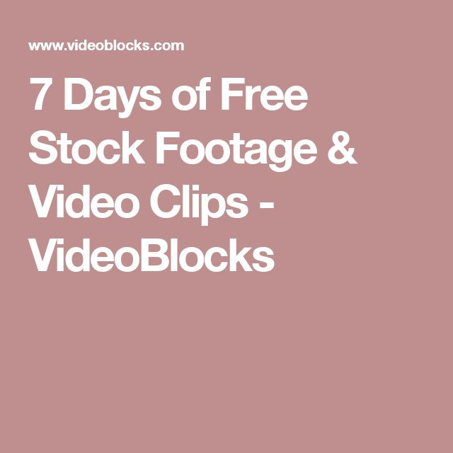 7 Days of Free Stock Footage & Video Clips - VideoBlocks