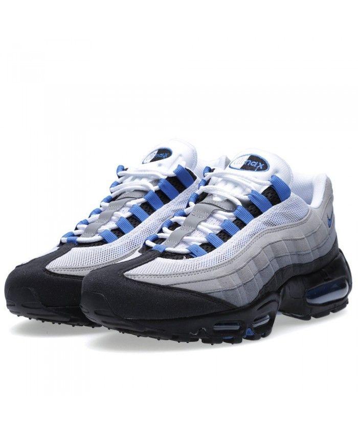 a31b3f1a640 Nike Air Max 95 White Blue Spark Trainers