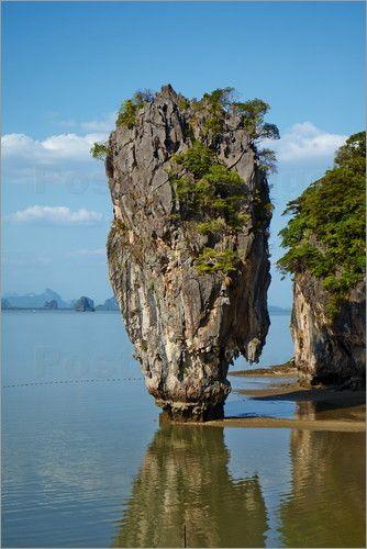 Places ◕‿◕n Earth | Ko Tapu Rock (James Bond Rock) on James Bond Island, Phang Nga Bay, Ao Phang Nga National Park, Ko Khao Phing Kan Island  Thailand..