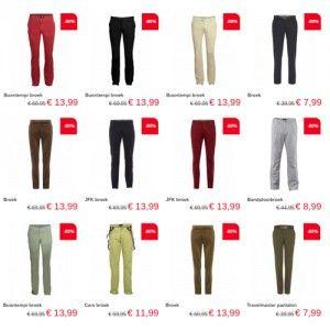 Nu bij Neckermann: Herenbroeken korting 80% bij Neckermann. Profiteer nu van maarliefst 80% korting op herenbroeken van merken zoals Cars, EDC by Esprit... #Neckermann #mode #SALE