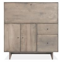 Hudson Modern Office Armoire with Wood Base - Modern Office Storage - Modern Office Furniture - Room & Board