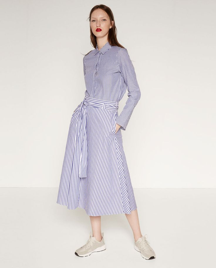Image 1 of STUDIO STRIPED SKIRT from Zara