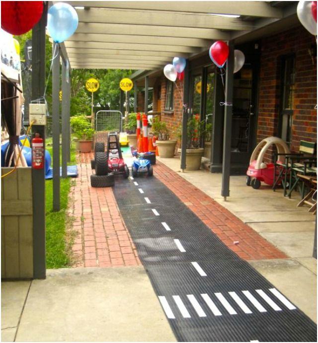 Boys red race car birthday party activity ideas