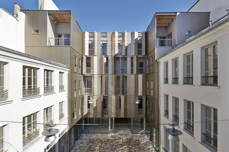 Le Marais, Vivienda Social y Oficinas / Atelier du Pont