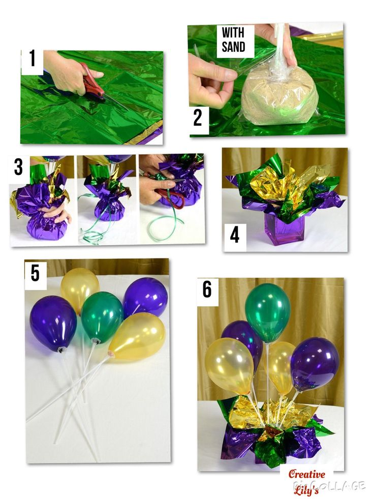 Option with sand .balloons in table