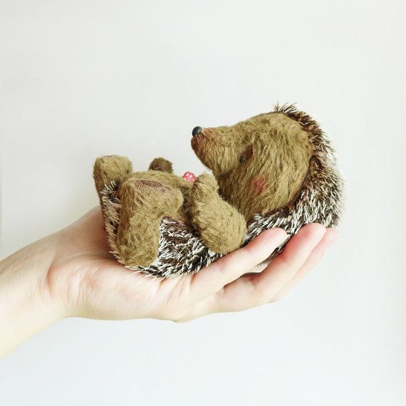 Baby hedgehogs are soooo cute!!!! Hedgehog  Forest Friend  New Collection by KittyAprilHandmade, $90.00