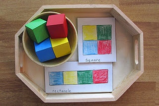 Great idea on something to do with colored blocks.