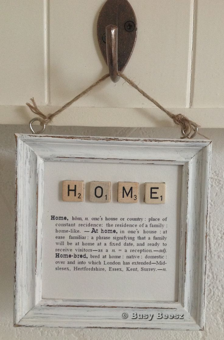 HOME definition Scrabble Tile Art - so many word applications could be done!
