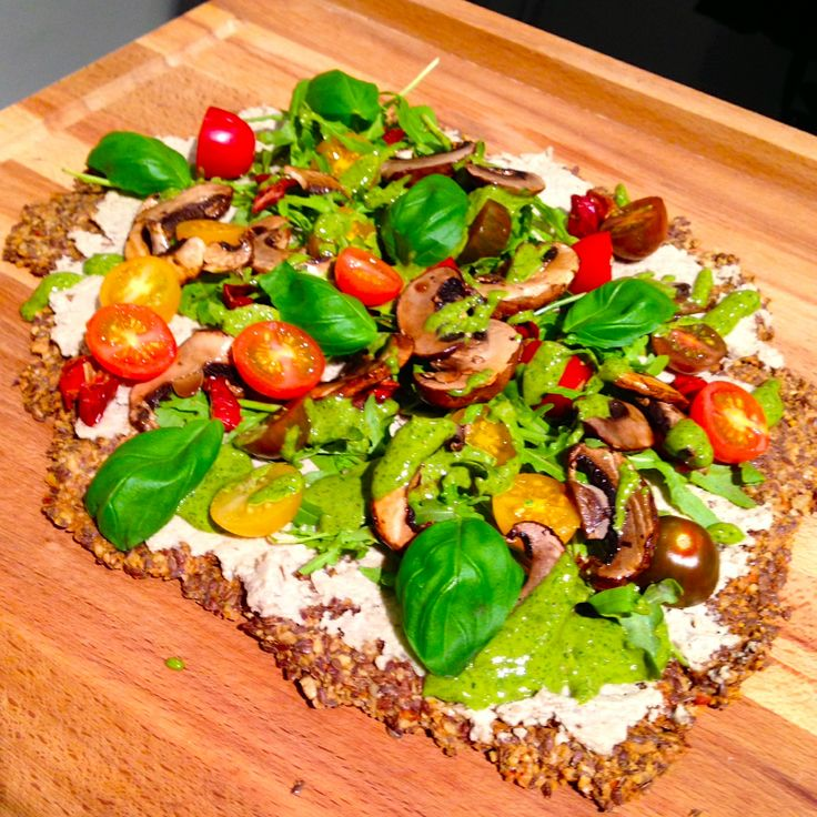 Raw food pizza
