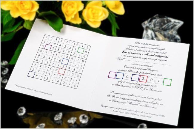 Zaproszenia ślubne SUD