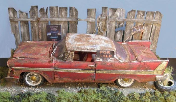 Christine 1958 Plymouth Fury Diorama