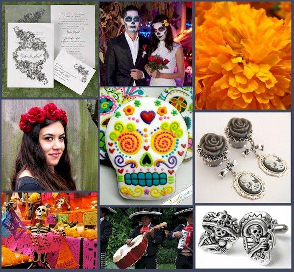 Dia De Los Muertos Wedding Theme Ideas: 1000+ Images About Day Of The Dead Wedding Ideas On Pinterest